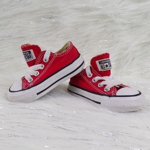 Converse Red Low Top Sneakers for Baby
